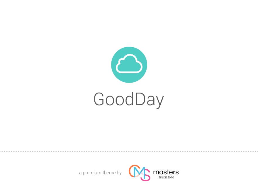GoodDay - Multi Purpose Responsive WordPress Theme