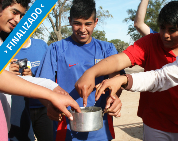 Agua caliente en escuela agrícola en Santiago del Estero