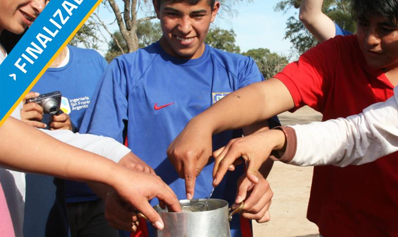 Agua caliente en escuela agrícola- Sgo. del Estero