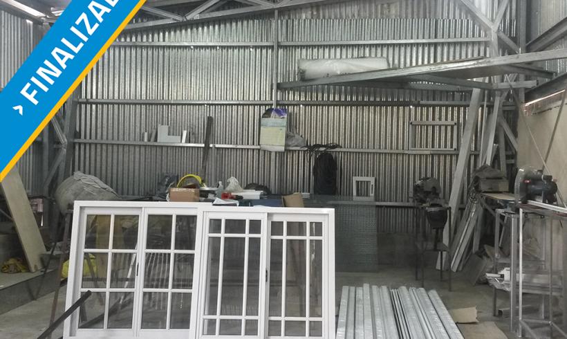 Construcción y fortalecimiento de fábrica de aberturas en barrio La Cárcova