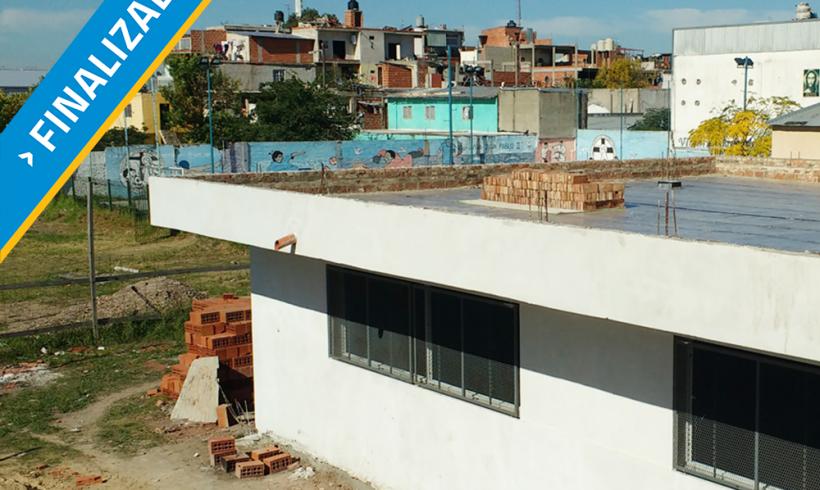 Participación en la construcción de escuela secundaria